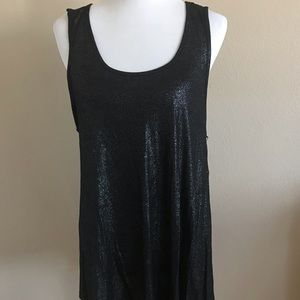NWT Juicy Couture Black Sparkle Tunic